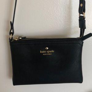 Authentic Black Kate spade crossbody purse
